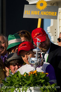 I'll Have Another (Flower Alley) wins the Preakness Stakes at Pimlico 5.19.2012. Mario Gutierrez up, Doug O'Neill trainer, Reddam Racing owner.