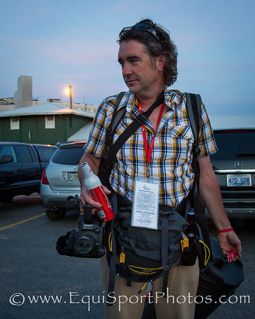 Film maker John Hennegan after the Preakness 5.19.2012