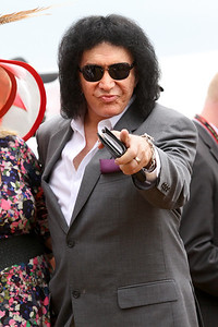 Gene Simmons of Kiss at Pimlico Racecourse 5/18/13.