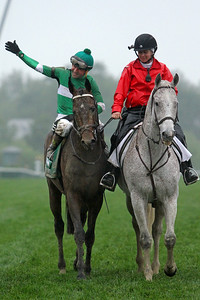 Exaggerator (Curlin) and jockey Kent Desormeaux win the Preakness Stakes (Gr I) at Pimlico Racecourse 5/21/16. Trainer: Keith Desormeaux. Owner: Big Chief Racing LLC
