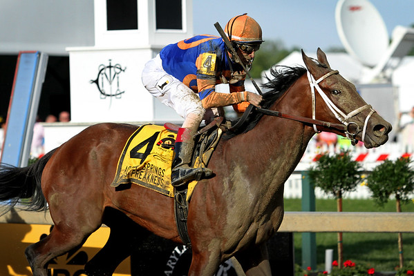 Lost Raven (Uncle Mo) and jockey John Velazquez win the Adena Springs Miss Preakness Stakes (Gr III) at Pimlico Racecourse 5/20/16. Trainer: Todd Pletcher. Owner: Repole Stable