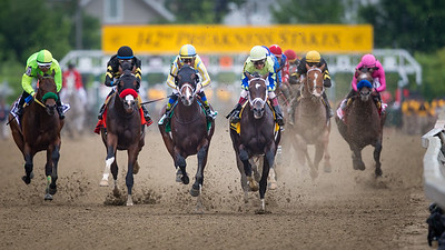 Cloud Computing (#2, Maclean's Music) wins The Preakness Stakes at Pimlico on 5.20.2017. Javier Castellano up, Chad Brown trainer, Klaravich Stables and William Lawrence owners.
