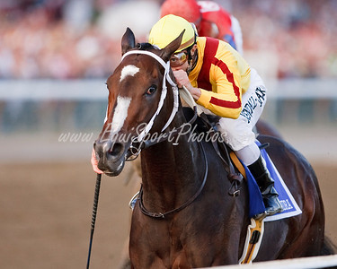 Rachel Alexandra (Medaglia d Oro), Calvin Borel up, wins the Woodward Stakes at Saratoga 9.05.2009 (EquiSport Photos)