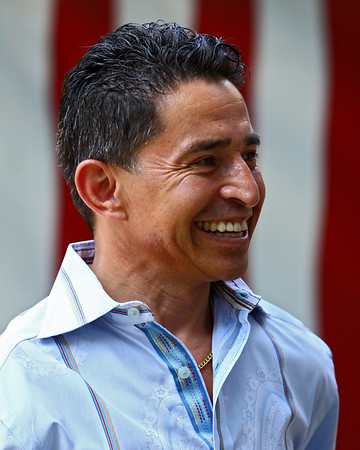 Future Hall Of Fame jockey Jose Santos, 46,  annonunced his retirement from racing at Saratoga Race Course, Saratoga Springs, NY. 7.30.2007 (credit: EquiSportPhotos)