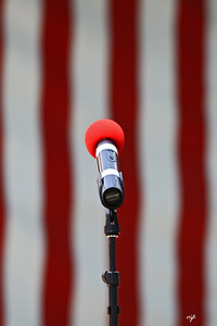 """Microphone stand at Saratoga (""""Possibly one of the best shots of the day!"""")"""