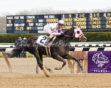I Want Revenge (Stephen Got Even), Joe Talamo up, wins the Wood Memorial at Aqueduct 4.4.09db (EquiSport Photos)