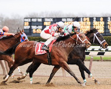 Kodiak Kowboy (Posse), John Velazquez up, wins the Carter Handicap at Aqueduct 4.4.09db (EquiSport Photos)
