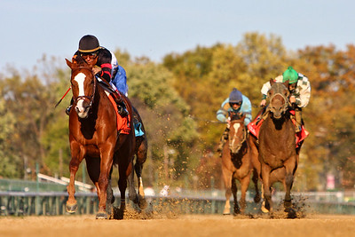 Sugar Swirl, with Rafael Bejarano up, wins the Very Subtle Stakes at Churchill Downs, Louisville, Ky. 11.04.2007