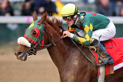 Pure Clan, with Julien Leparoux up, wins the Goldenrod Stakes at Churchill. 11.24.2007