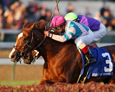 Bit of Whimsy, Javier Castellano up, wins the Mrs. Revere Stakes at Churchill Downs. 11.10.2007