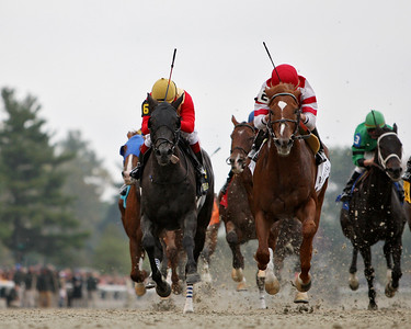 Go Between, Miguel Mena up, wins the Fayette Stakes at Keeneland Race Course. 10.27.2007
