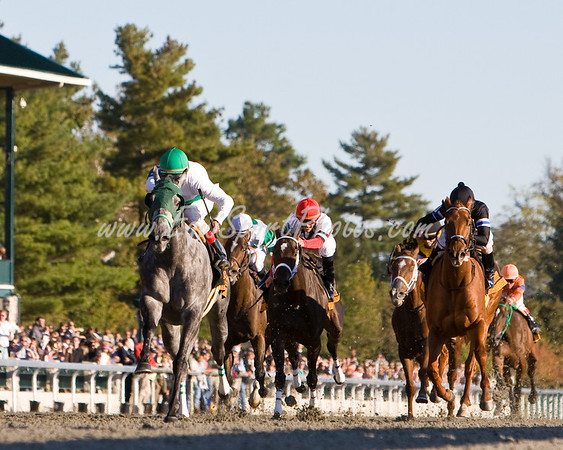 Informed Decision (Monarchos), John Velazquez up, wins the Lexus Raven Run S. (G2) at Keeneland 10.10.2008mw ( Horse Racing Photos by EquiSport Photos )