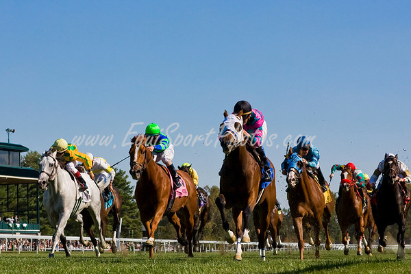 Chamberlain Bridge (War Chant) black cap, Jamie Theriot up, wins the Woodford Reserve S. (L) at Keeneland 10.04.2008mw (track record) ( Horse Racing Photos by EquiSport Photos )