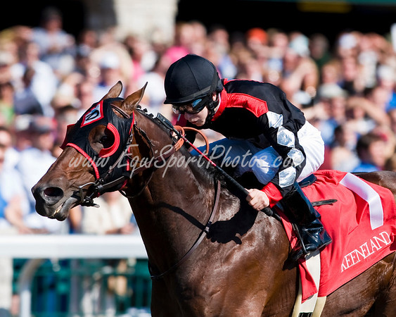 Sing Baby Sing (Unbridled's Song), Justin Shepherd up, wins the Phoenix S. (G3) at Keeneland 10.04.2008mw ( Horse Racing Photos by EquiSport Photos )