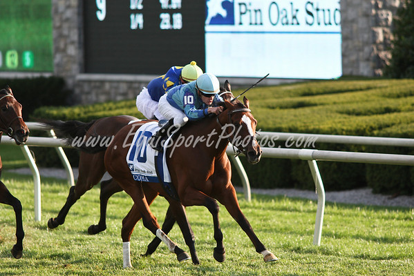 Acoma (Empire Maker), Julien Leparoux up, wins the Pin Oak Valley View S. (G3) at Keeneland 10.17.2008jb ( Horse Racing Photos by EquiSport Photos )