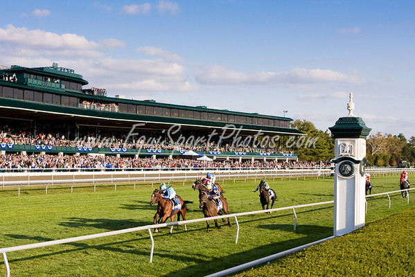 Acoma (Empire Maker), Julien Leparoux up, wins the Pin Oak Valley View S. (G3) at Keeneland 10.17.2008mw ( Horse Racing Photos by EquiSport Photos )