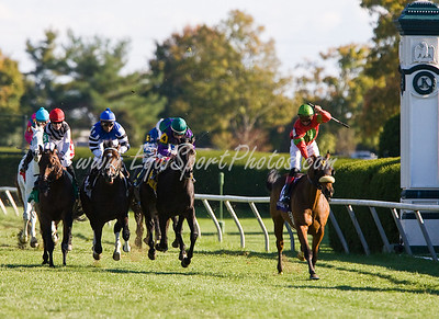 Always First (Barathea), Rene Douglas up, wins the Sycamore S. (G3) at Keeneland 10.18.2008mw ( Horse Racing Photos by EquiSport Photos )