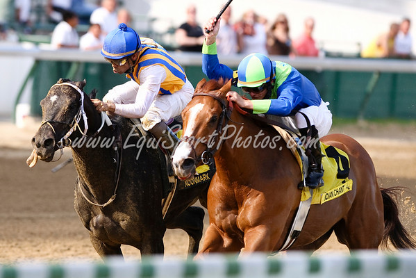 Indian Chant (Suggest), Jamie Theriot up, outlasts Noonmark to win the Atistides Stakes at Churchill Downs 5.31.2008  ( Horse Racing Photos by EquiSport Photos )