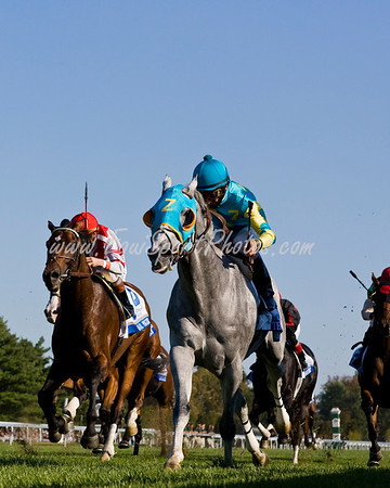Thorn Song (Unbridled's Song), Robby Albarado up, wins the Shadwell Turf Mile (G1) at Keeneland 10.04.2008mw ( Horse Racing Photos by EquiSport Photos )