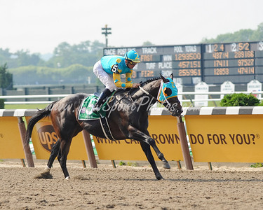 J BE K (Silver Deputy), Garrett Gomez up, wins the Woody Stephens S. at Belmont Park 6.07.2008  ( Horse Racing Photos by EquiSport Photos )