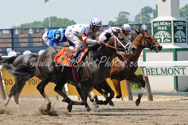 Benny The Bull (Lucky Lionel), Edgar Prado up, wins the True North H. at Belmont Park 6.07.2008  ( Horse Racing Photos by EquiSport Photos )