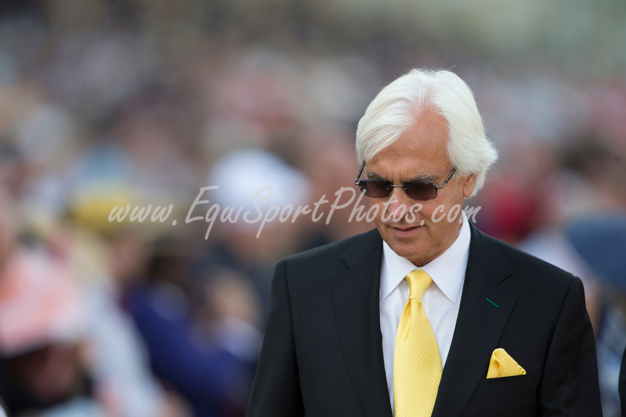 Bob Baffert at Pimlico on 5.17.2014.