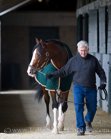 Tom Bush with Get Stormy at Keeneland 10.05.2010