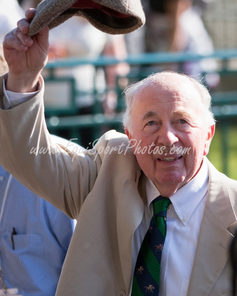 Thomas McCarthy, Owner/Trainer of General Quarters, after winning the Bluegrass Stakes at Keeneland 4.11.2009