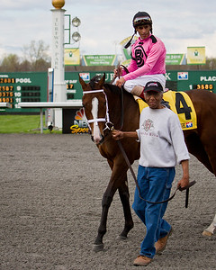In Lingerie (Empire Maker), Johnny Valazquez up, wins The Bourbonette Oaks (G3) at Turfway Park 3.24.2012. Trained by Todd Pletcher,  Gary Barber and Eclipse Thoroughbred Partners owners.
