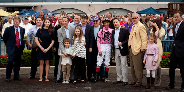 The winning connections of The Bourbonette Stakes - Eclipse Thoroughbred Partners
