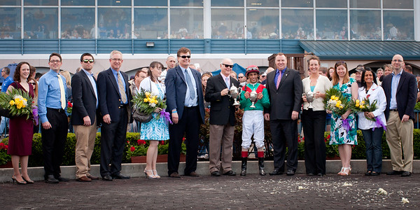 The winning connections of The Vinery Spirial Stakes - Team Valor International and Mark Ford