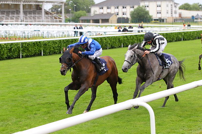 Monbaher and Dane O'Neill win at Doncaster from Fleurman. 25/6/2021 Pic Steve Davies