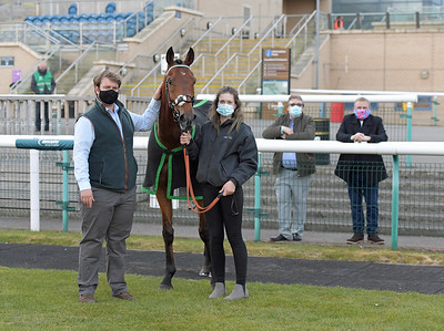SHIP OF THE FEN after winning Download The At The races App Handicap Stakes at Doncaster 1-5-21.