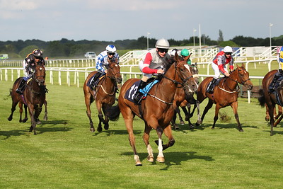 Philly Eagles and Kieran O'Neill win the Get Hugh Taylor's Tips on attheraces.com EBF Restricted Maiden Fillies Stakes at Doncaster for trainer Alice Haynes. 26/6/2021 Pic Steve Davies