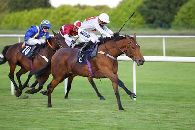 Trinity Girl and Thore Hammer Hansen win at Doncaster. 26/6/2021 Pic Steve Davies/Racingfotos.com