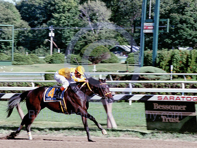 Came Home winning the 2000 Hopeful Stakes at Historic Saratoga Race Course with Chris McCarron in the saddle.