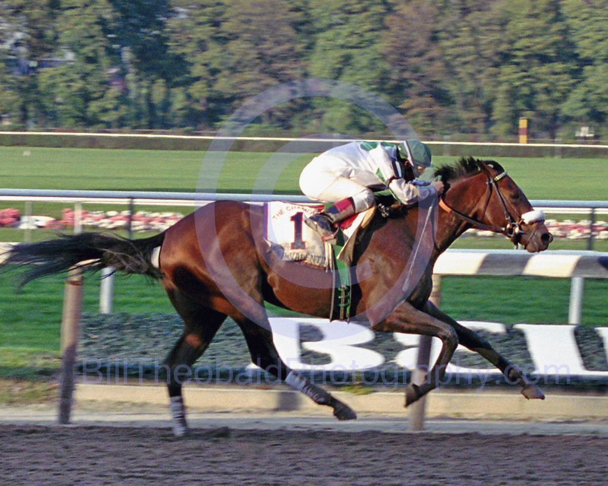 A.P. Valentine winning the 2000 Champagne Stakes at Belmont Park.