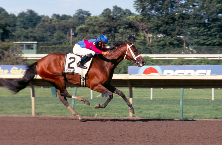 Capeside Lady winning the 2005 Molly Pitcher Handicap at Monmouth Park