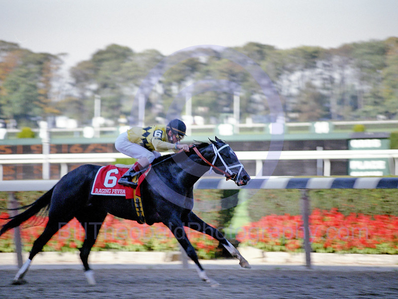 Raging Fever winning the 2000 Frizette Stakes at Belmont Park.