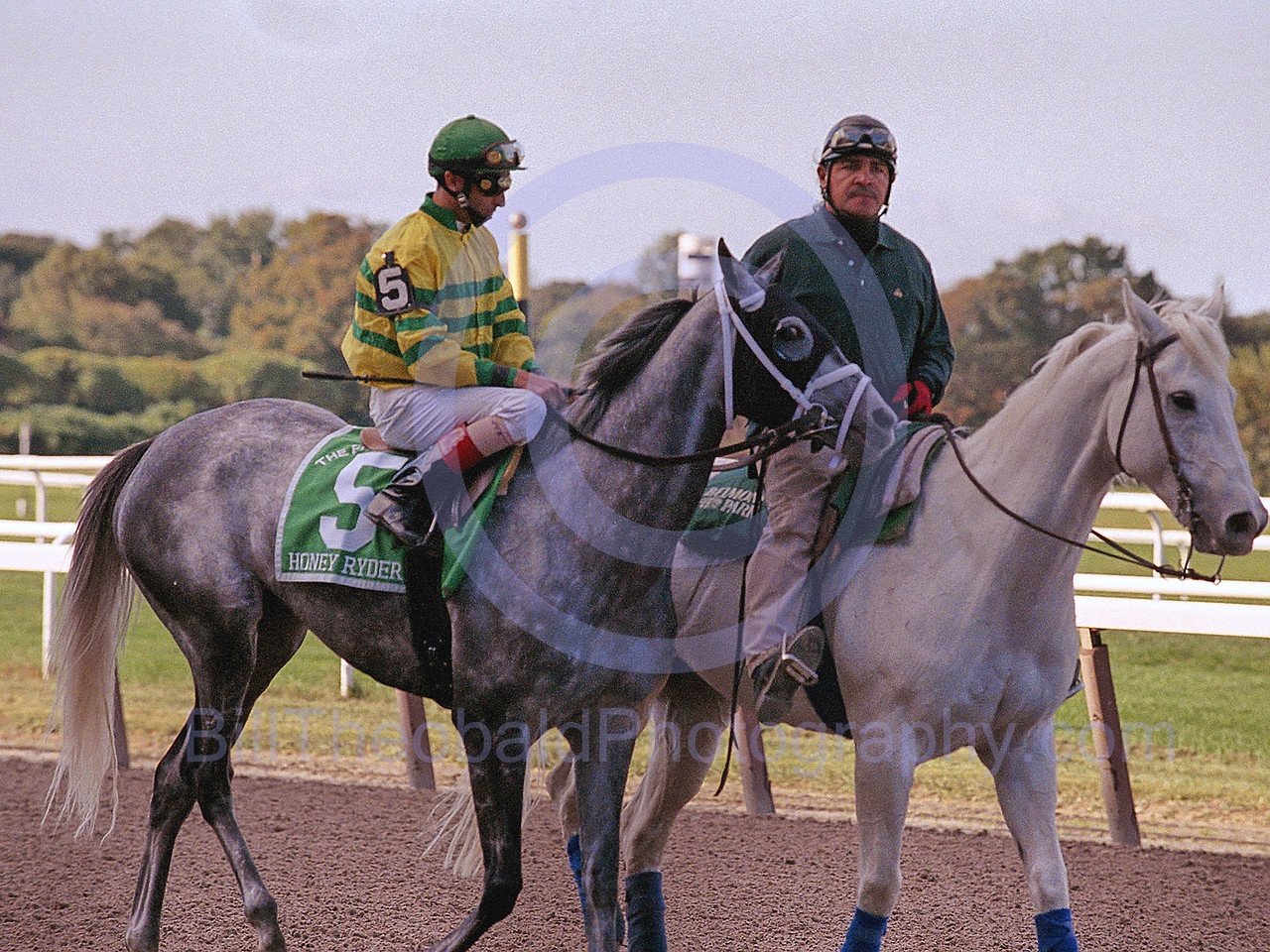 Honey Ryder and John Velasquez in the post parade for the 2006 running of the Flower Bowl at Belmont Park.  Honey Ryder would go on to win and by doing so, secure the earnings record in a year for Todd Pletcher.