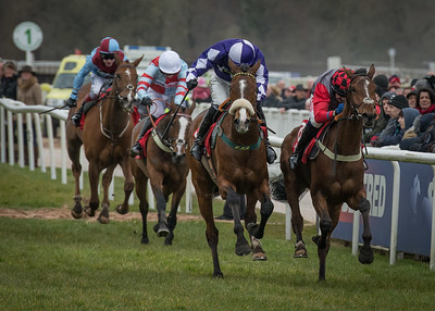 Justatenner (Far Right) for C L Tizzard and T Scudamore  - Winner 14:25