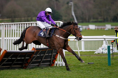 Fujitif and James Best win the Will Cemis Happy 30th Birthday Handicap Hurdle at Uttoxeter. 21/2/2021 Pic Steve Davies