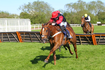 Enfin Phil and Alain Cawley win the attheraces.com Handicap Hurdle at Uttoxeter. 30/5/2021 Pic Steve Davies