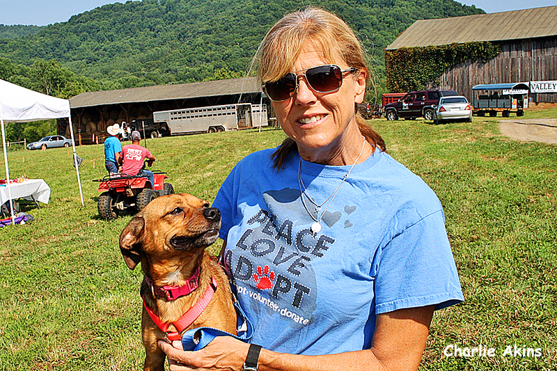 This nice lady works at All American Mutt Rescue.