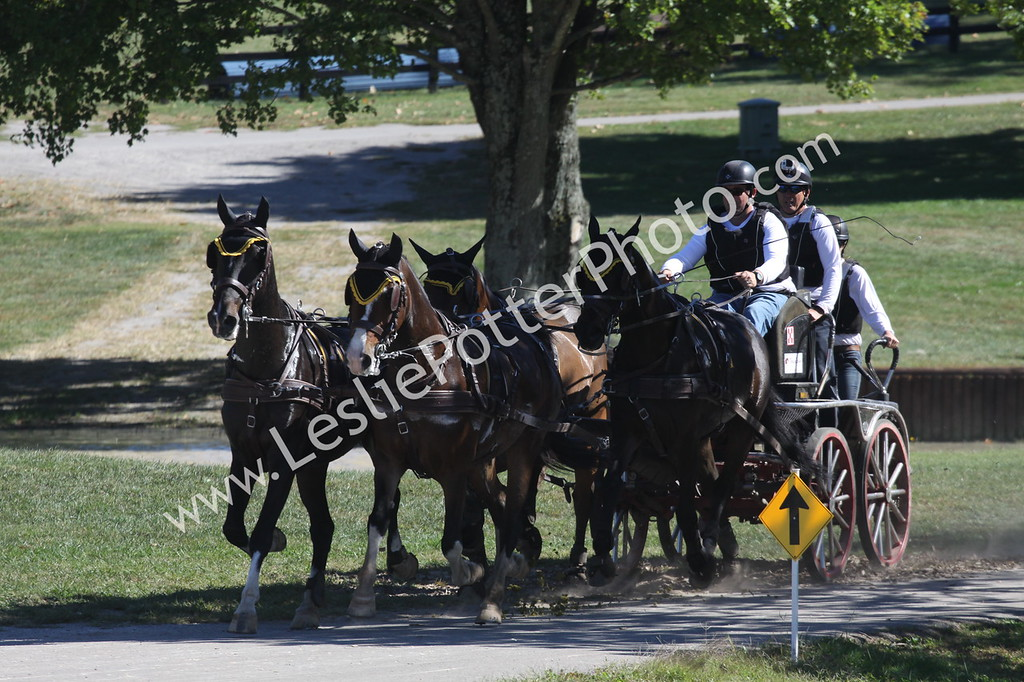 Marathon phase of the 2016 Kentucky Classic Three-Day Event