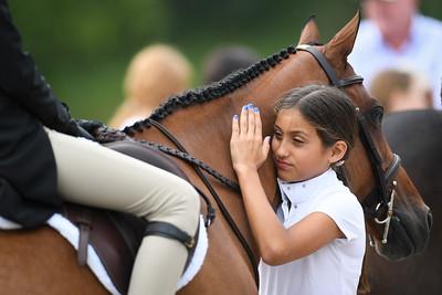 Ellie Blair's pony, Amulet, and friend
