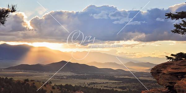 Wet Mountain Valley Sunset
