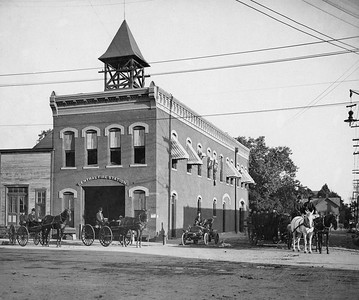 2000 Main at Harwood where old municipal building now stands. In service 1887 per 1889 DFD Annual. Note Cistern in front of station.