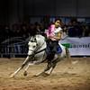 Il giovane Sasà Improta, vincitore di Talenti e cavalli con un coinvolgente numero di volteggio.