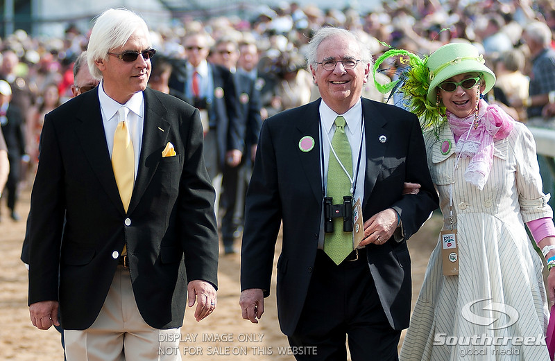 Midnight Interlude's trainer Bob Baffert with owner Arnold Zetcher prior to the 137th running of the Kentucky Derby  at Church Hill Downs in Louisville,KY. Animal Kingdom won in front of a record crowd of 164,858.